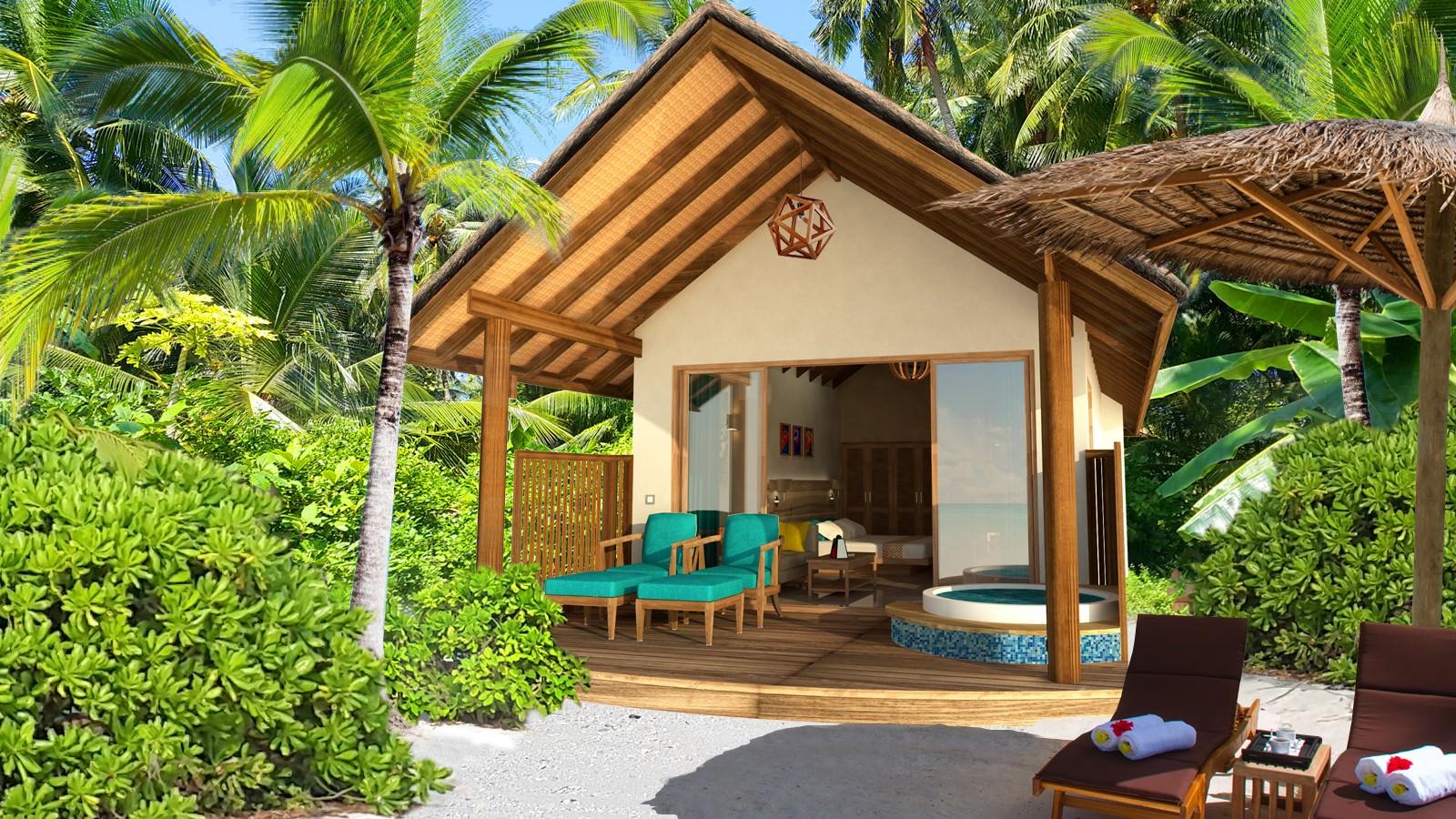 artists-impression-Deluxe-Jacuzzi-Beach-Villa-exterior