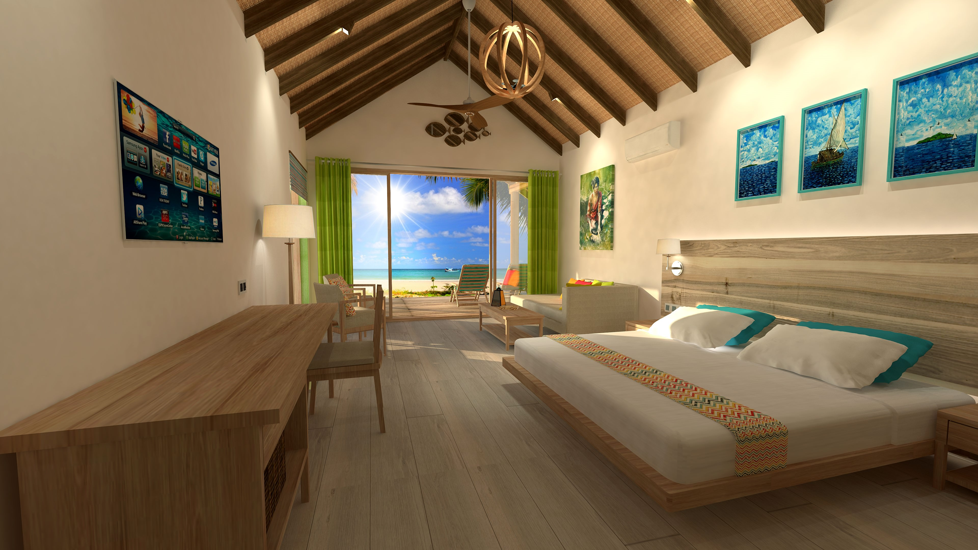 artists-impressions-Deluxe-Beach-Villa-interior